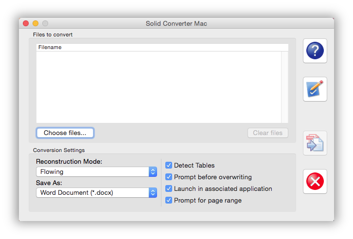 开始 Solid Converter Mac